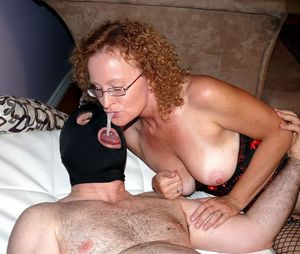 son cums in moms mouth