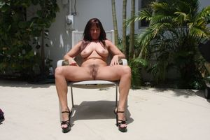 hairy mature brunette